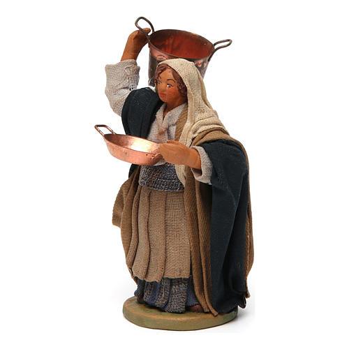 Femme avec casserole crèche Napolitaine 10 cm 2