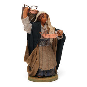 Nativity scene figurine, Woman with pots 10 cm s3