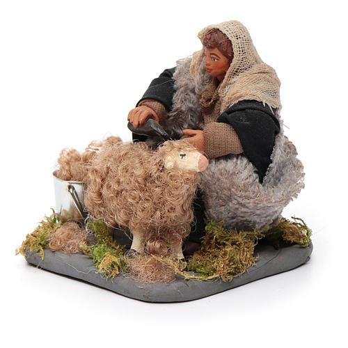 Santon tondeur de moutons crèche 10 cm 2