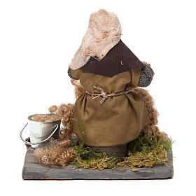 Shearer with sheep 10 cm for nativity set s4