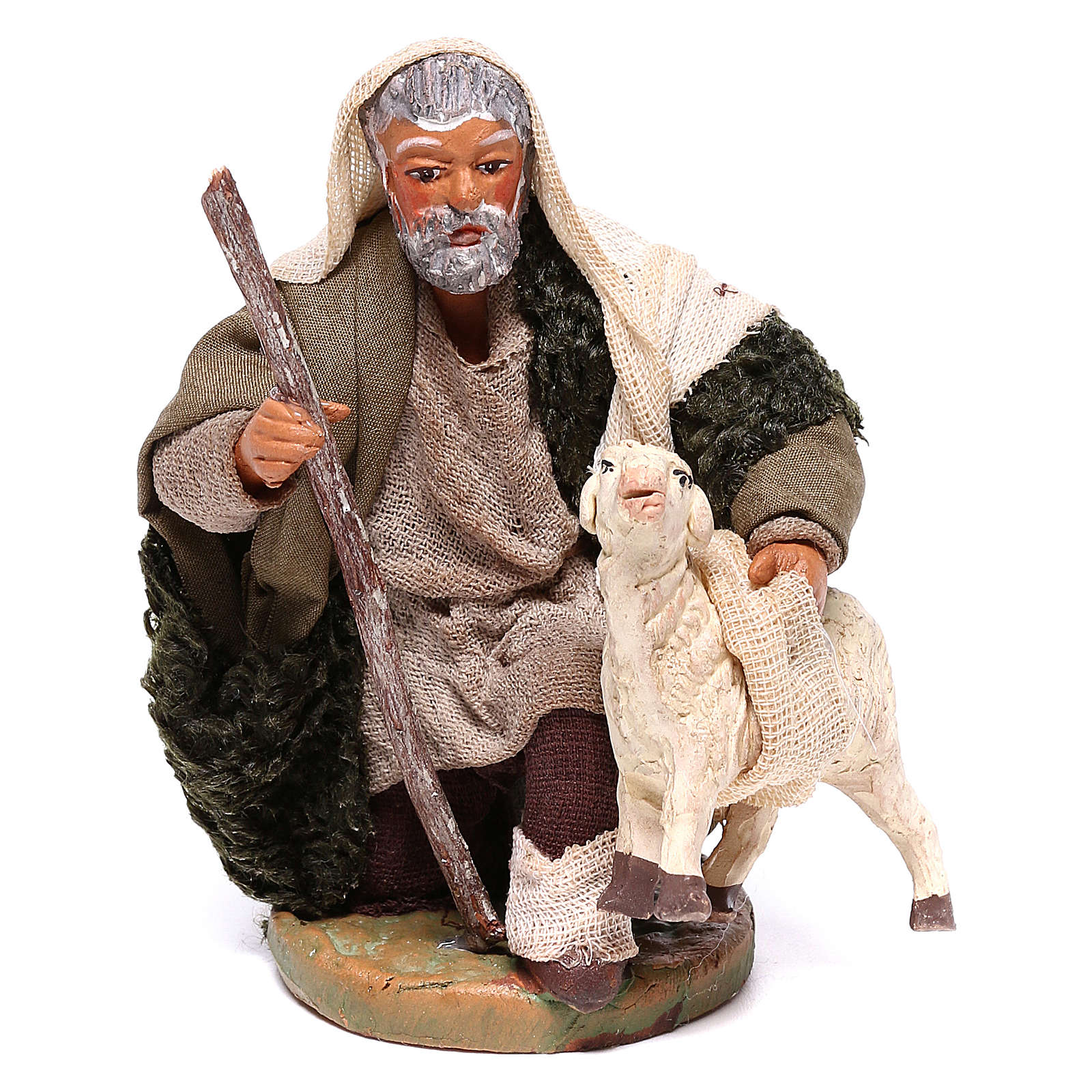 Shepherd with small sheep 10 for nativity set 4