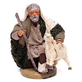 Neapolitan Nativity Scene: Shepherd with small sheep 10 for nativity set