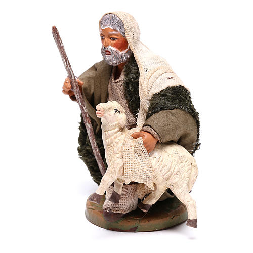 Shepherd with small sheep 10 for nativity set 2