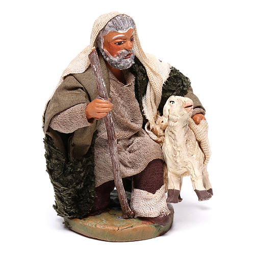 Shepherd with small sheep 10 for nativity set 3