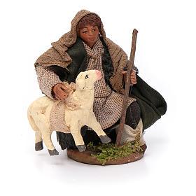 Santon berger avec mouton crèche 10 cm s1