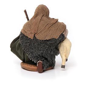 Santon berger avec mouton crèche 10 cm s4