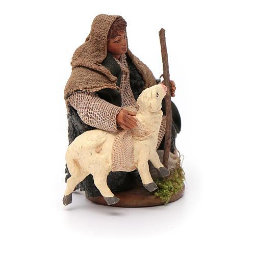 Santon berger avec mouton crèche 10 cm 3