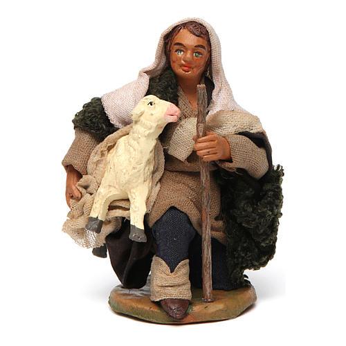 Pastore con pecorella 10 cm 1