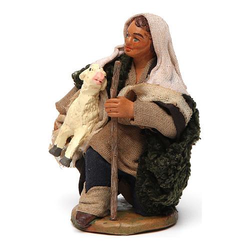 Pastore con pecorella 10 cm 2
