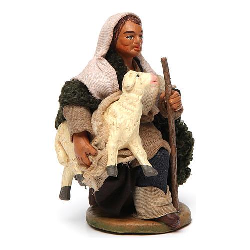 Pastore con pecorella 10 cm 3
