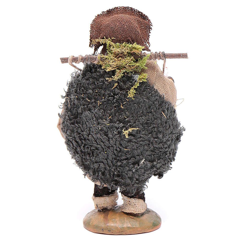 Uomo con gabbia di galline 10 cm 4