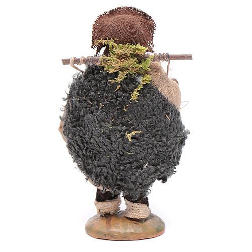 Uomo con gabbia di galline 10 cm 3