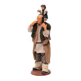 Uomo con bimbo sulle spalle 14 cm s6