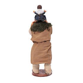 Uomo con bimbo sulle spalle 14 cm s4