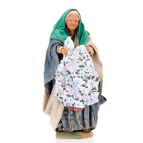 Santon femme avec linge crèche 14 cm 1