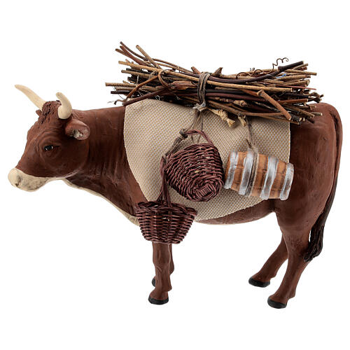 Nativity set accessory Ox standing and harness 14 cm 1
