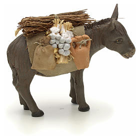 Nativity set accessory Donkey standing and harness 14 cm s4