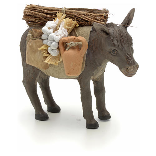 Nativity set accessory Donkey standing and harness 14 cm 1