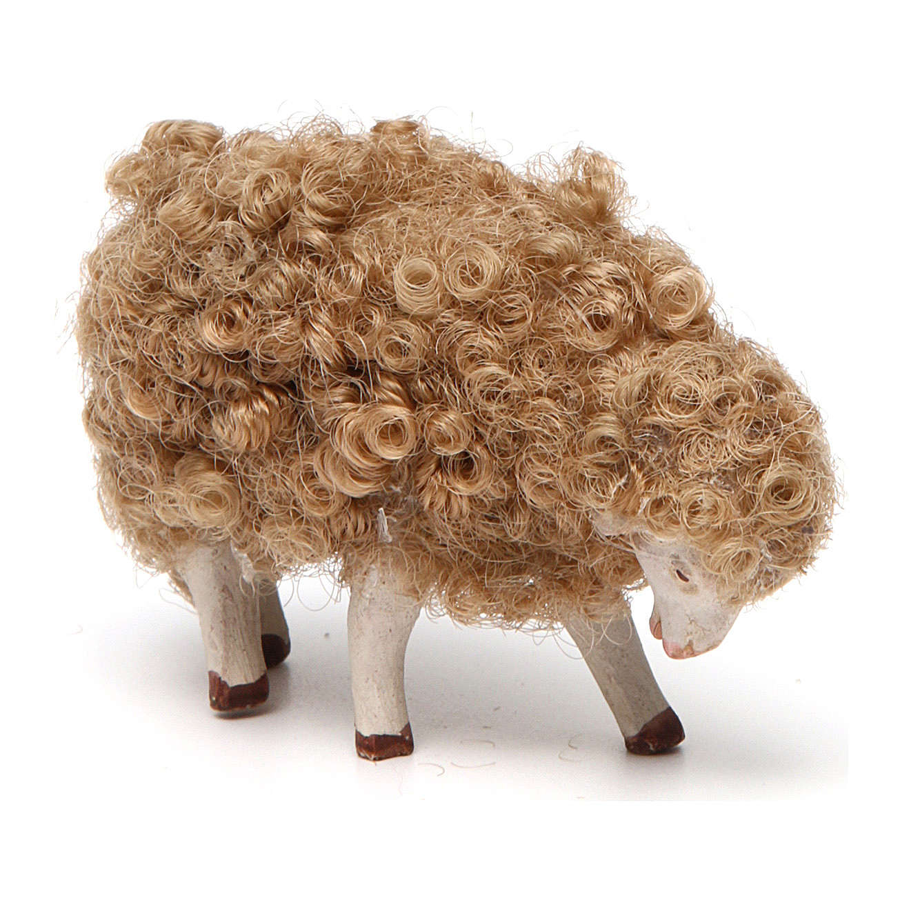 Sheep with head down 14 cm nativity set 4