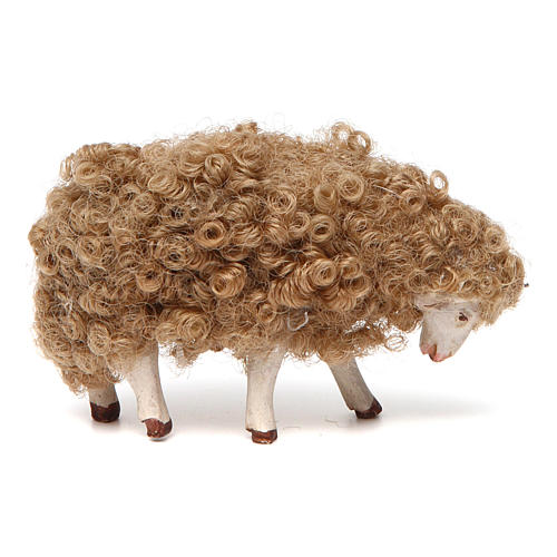 Sheep with head down 14 cm nativity set 1