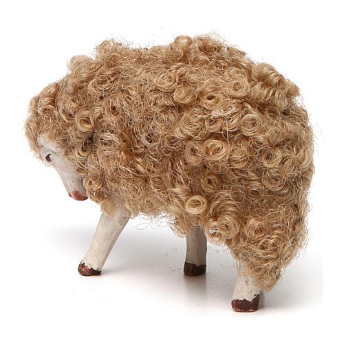 Sheep with head down 14 cm nativity set 3
