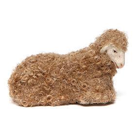 Pecora lana accovacciata 14 cm s1