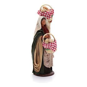 Santon femme avec paniers crèche 14 cm s4