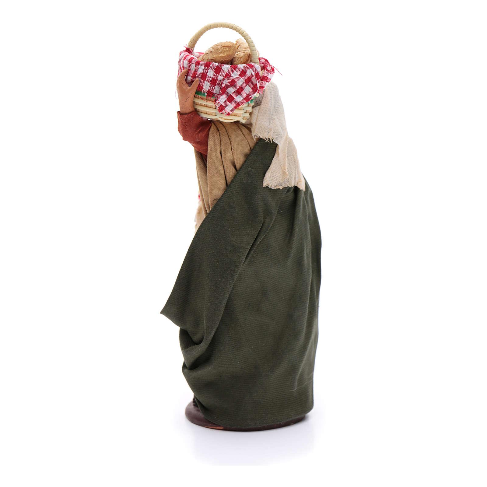Donna con cesti di pane 14 cm 4
