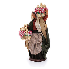 Woman with baskets of bread 14 cm nativity set s2