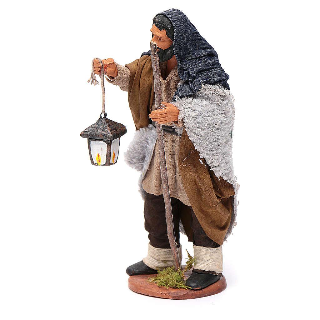 Pastore con lanterna 14 cm 4