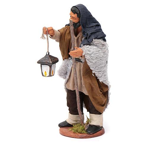 Pastore con lanterna 14 cm 2