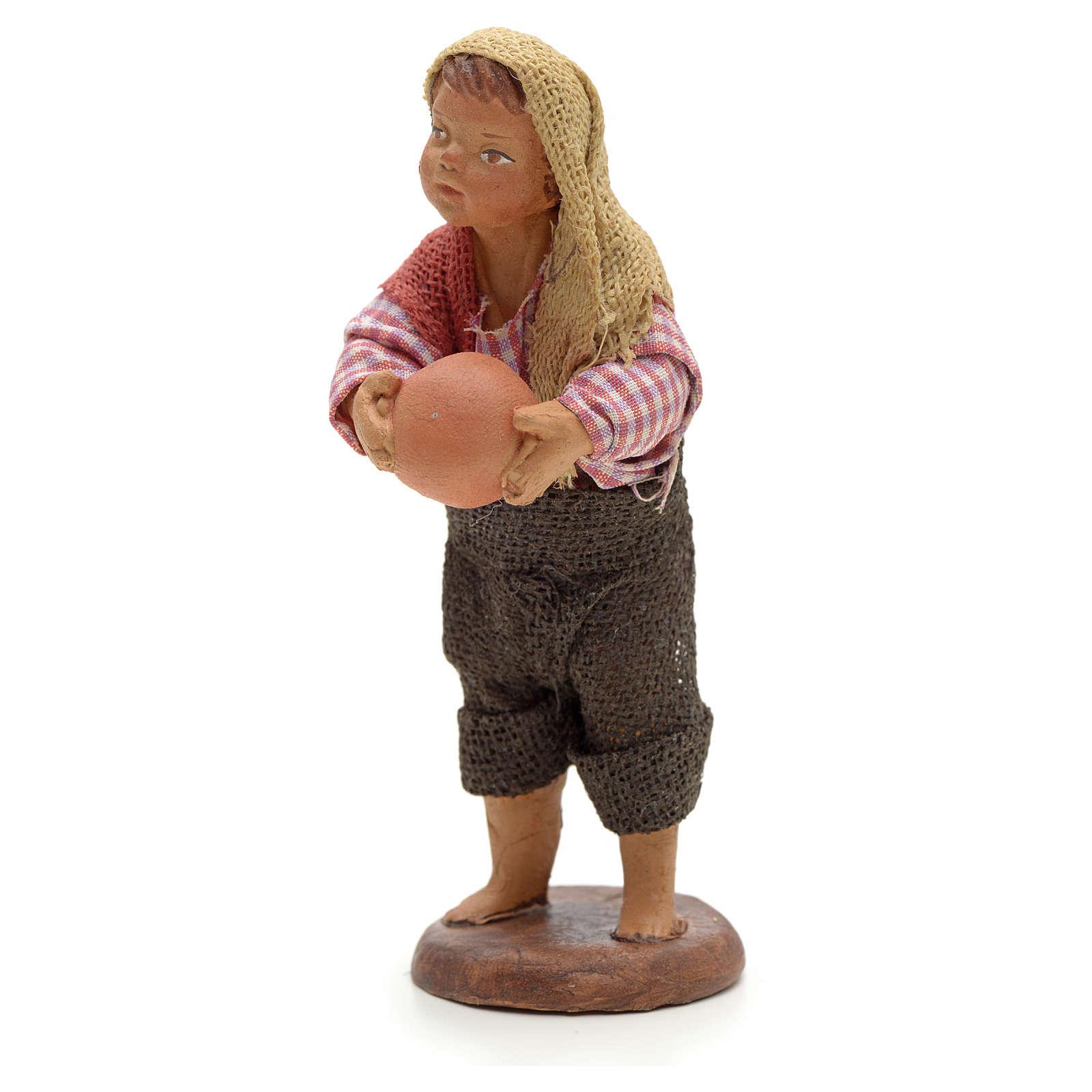 Enfant avec balle crèche 14 cm 4