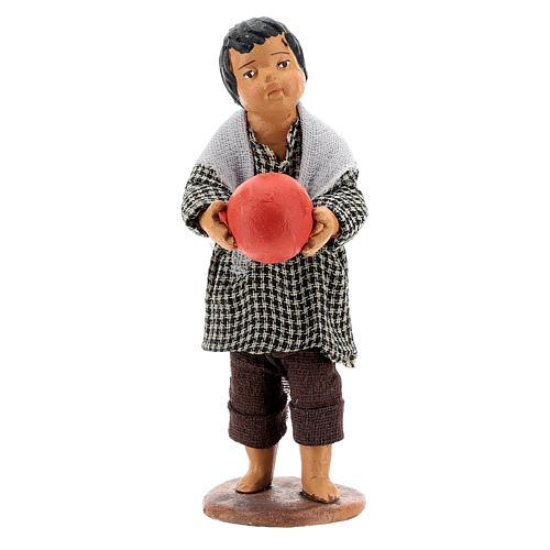 Bambino con palla 14 cm 1