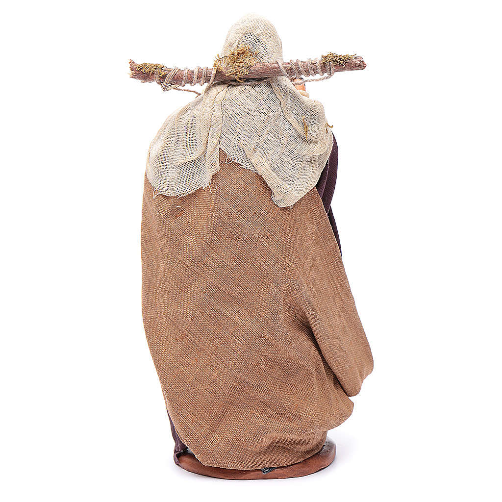 Donna con cassette di galli 14 cm 4