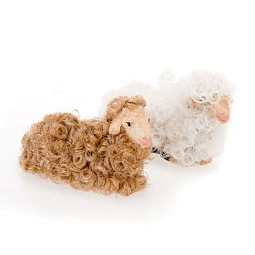 Sheep seated 10 cm nativity set s1