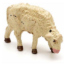 Mouton laine tête baisée crèche 10 cm s3
