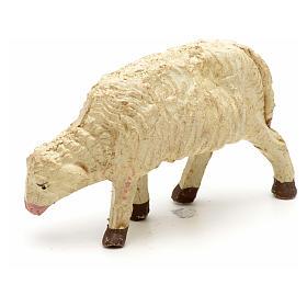 Mouton laine tête baisée crèche 10 cm s4