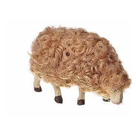 Mouton laine tête baisée crèche 10 cm s6