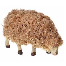 Mouton laine tête baisée crèche 10 cm s1