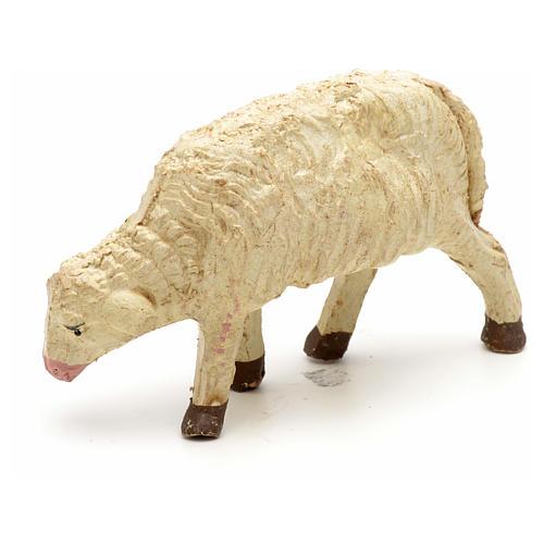 Mouton laine tête baisée crèche 10 cm 4