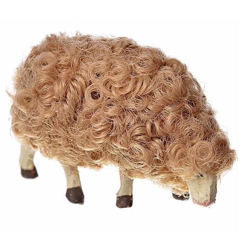 Mouton laine tête baisée crèche 10 cm 1