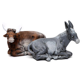 Neapolitan Nativity Scene: Nativity set accessories ox and ass 30cm
