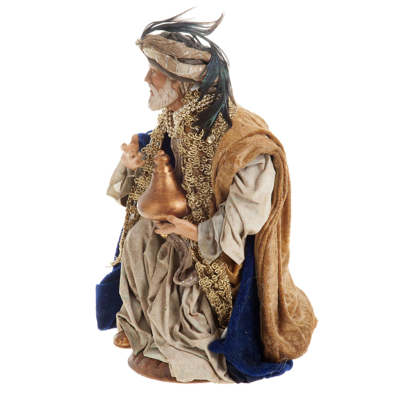 Neapolitan figurines, the Magi 30cm 4