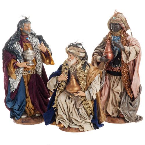 Neapolitan figurines, the Magi 30cm 1