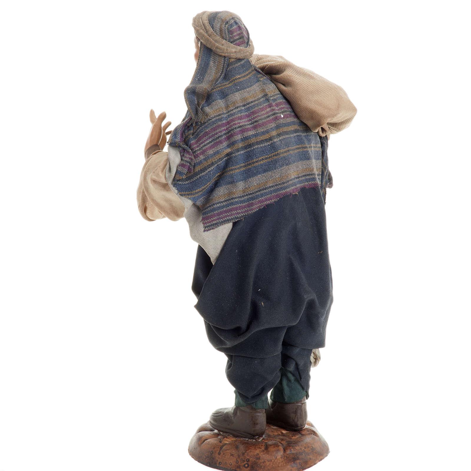 Neapolitan figurine, traveler 30cm 4