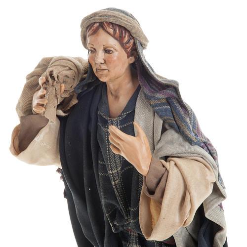 Neapolitan figurine, traveler 30cm 2