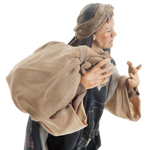 Neapolitan figurine, traveler 30cm 3