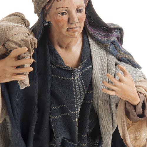 Neapolitan figurine, traveler 30cm 5