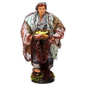 Neapolitan Nativity Scene: Neapolitan nativity figurine, fisherman 30cm