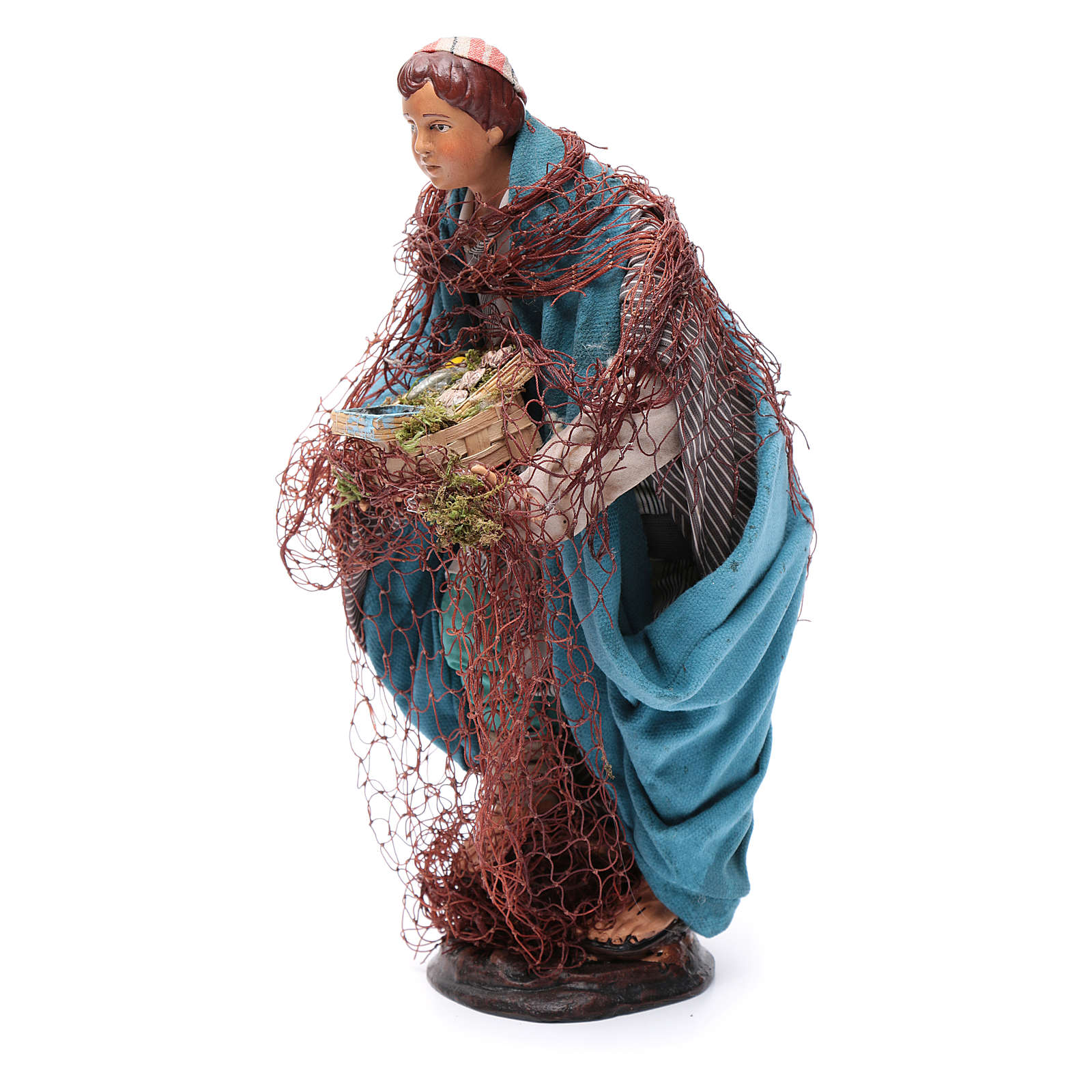 Neapolitan nativity figurine, fisherman 30cm 4